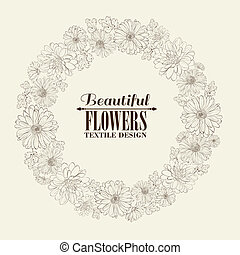 Wreath of beautiful chrystant flowers. - Wreath of beautiful...