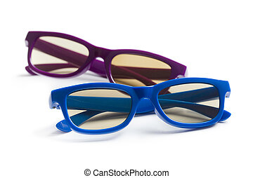 3d glasses - kids 3d glasses on white background