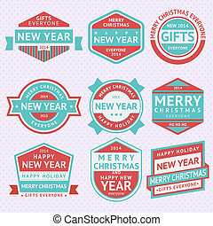 Set stickers for Christmas