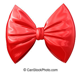 fashionable red bow, image with a work path