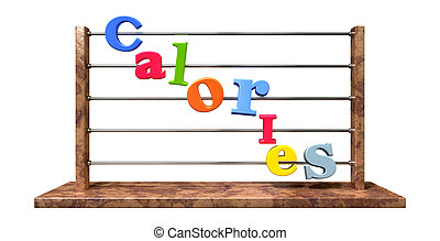 Calorie Counting Abacus - An abacus with various colored...