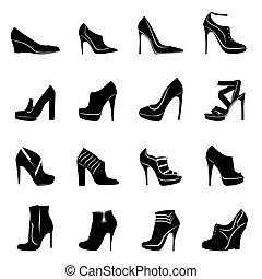 Sixteen models of stylish women footwear