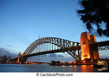 Sydney Bridge in the afternoon - sydney harbour bridget at...