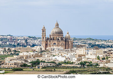 Santa Cilja Church in Gozo, Malta. - Santa Cilja Church on...