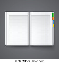 Notebook for records - Notebook for notes, diary. Vector...