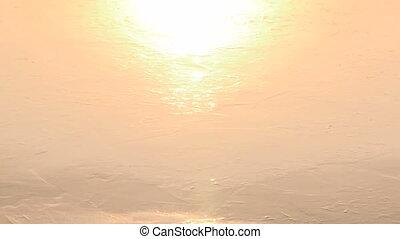 Melting ice - Lake ice melting and cracking under the sun