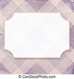 Vintage purple diagonal striped paper background with a place for your text