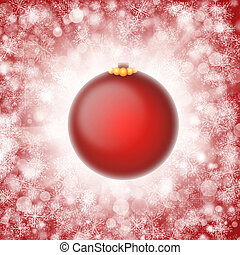 Red christmas ornament illustration