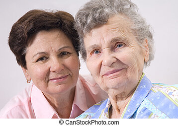 mothers day - portrait of mother with her daughter