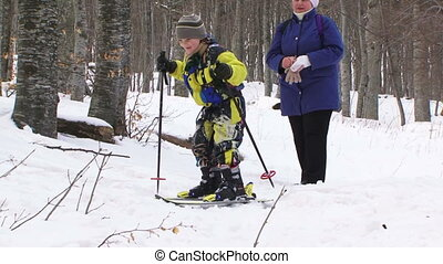 Skiing for the first time