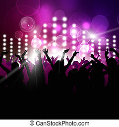 Nighttime Party - party music background for active...