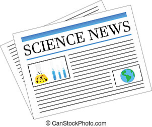 Science News Newspaper Headlines Vector Illustration