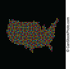 USA light dot map logo