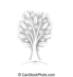Styled White Tree