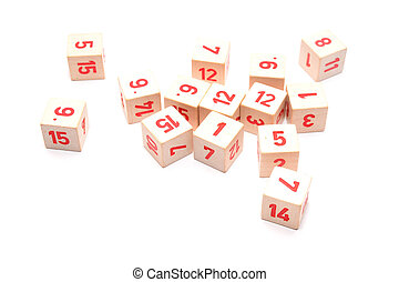 toy blocks isolated on white