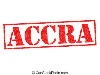 ACCRA Rubber Stamp - ACCRA capital of Ghana rubber stamp...