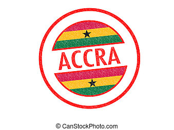 ACCRA Rubber Stamp - Passport-style ACCRA capital of Ghana...