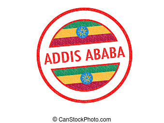 ADDIS ABABA - Passport-style ADDIS ABABA capital of Ethopia...