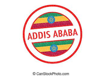 ADDIS ABABA - Passport-style ADDIS ABABA (capital of...