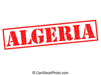 ALGERIA Rubber Stamp over a white background.
