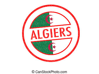 ALGIERS - Passport-style ALGIERS (capital of Algeria) rubber...