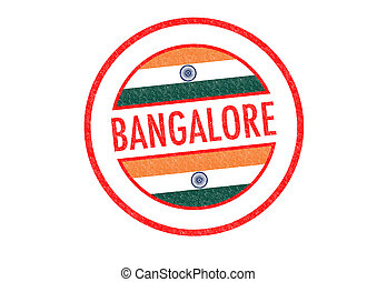 BANGALORE - Passport-style BANGALORE (India) rubber stamp...