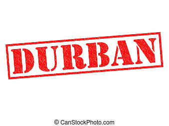 DURBAN (South Africa) Rubber Stamp over a white background.