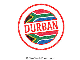 DURBAN - Passport-style DURBAN (South Africa) rubber stamp...