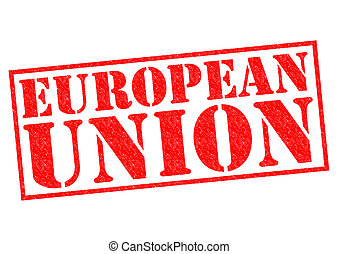 EUROPEAN UNION Rubber stamp over a white background.