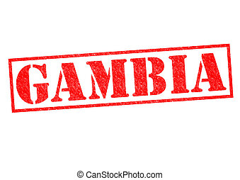 GAMBIA Rubber Stamp over a white background