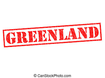 GREENLAND Rubber Stamp over a white background