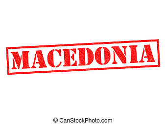 MACEDONIA Rubber Stamp over a white background