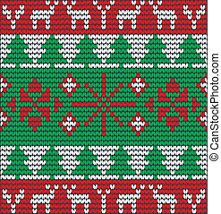 christmas background with tree made of wool eps 10