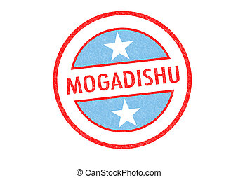 MOGADISHU - Passport-style MOGADISHU (capital of Somalia)...
