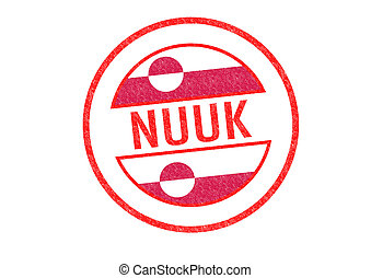 NUUK Rubber Stamp - Passport-style NUUK capital of Greenland...