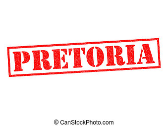 PRETORIA South Africa Rubber Stamp over a white background...