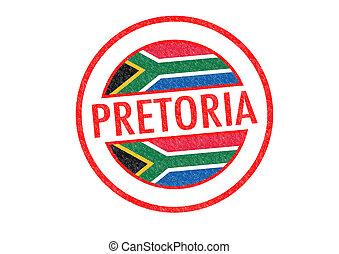 PRETORIA - Passport-style PRETORIA (South Africa) rubber...