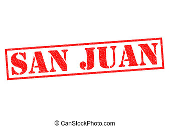 SAN JUAN Puerto Rico Rubber stamp over a white background