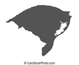 Map of Rio Grande do Sul - Brazil