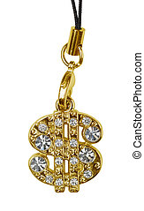Gold dollar pendant
