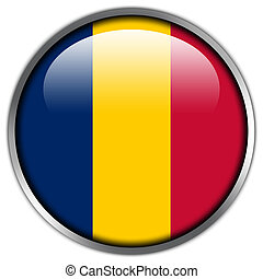 Chad Flag glossy button