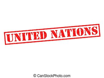 UNITED NATIONS Stamp - UNITED NATIONS Rubber stamp over a...