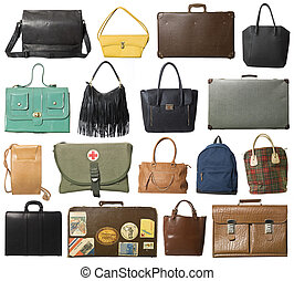 Collage of bags