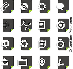 Different file types icons set isolated on white