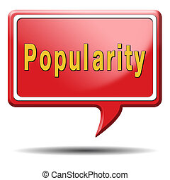 popularity fame and famous label or icon for bestseller or...