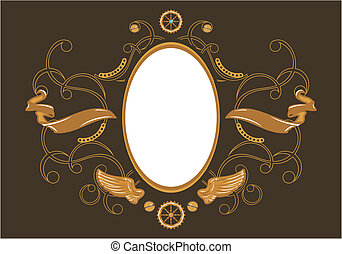 Steampunk style frame - Industrial steampunk style frame...