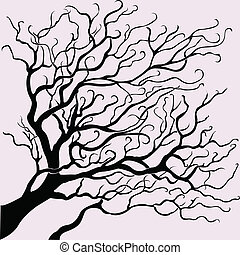 vector beautiful tree