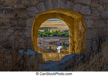 Mota del Marques Through Door - Spanish town Mota del...