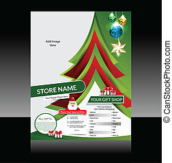 Christmas Flyer Design Vector illustration