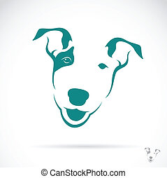 Vector image of a bull terrier